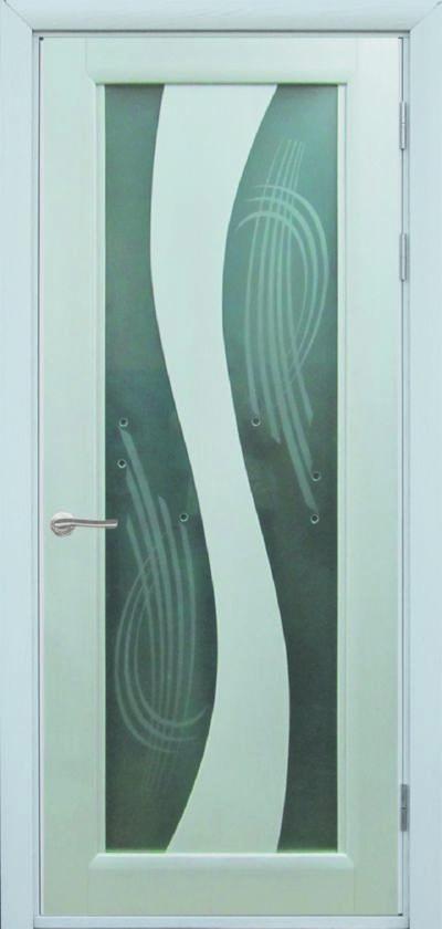 Модерн 1, Стекло- Сатинато, Шпон натуральный, цвет любой