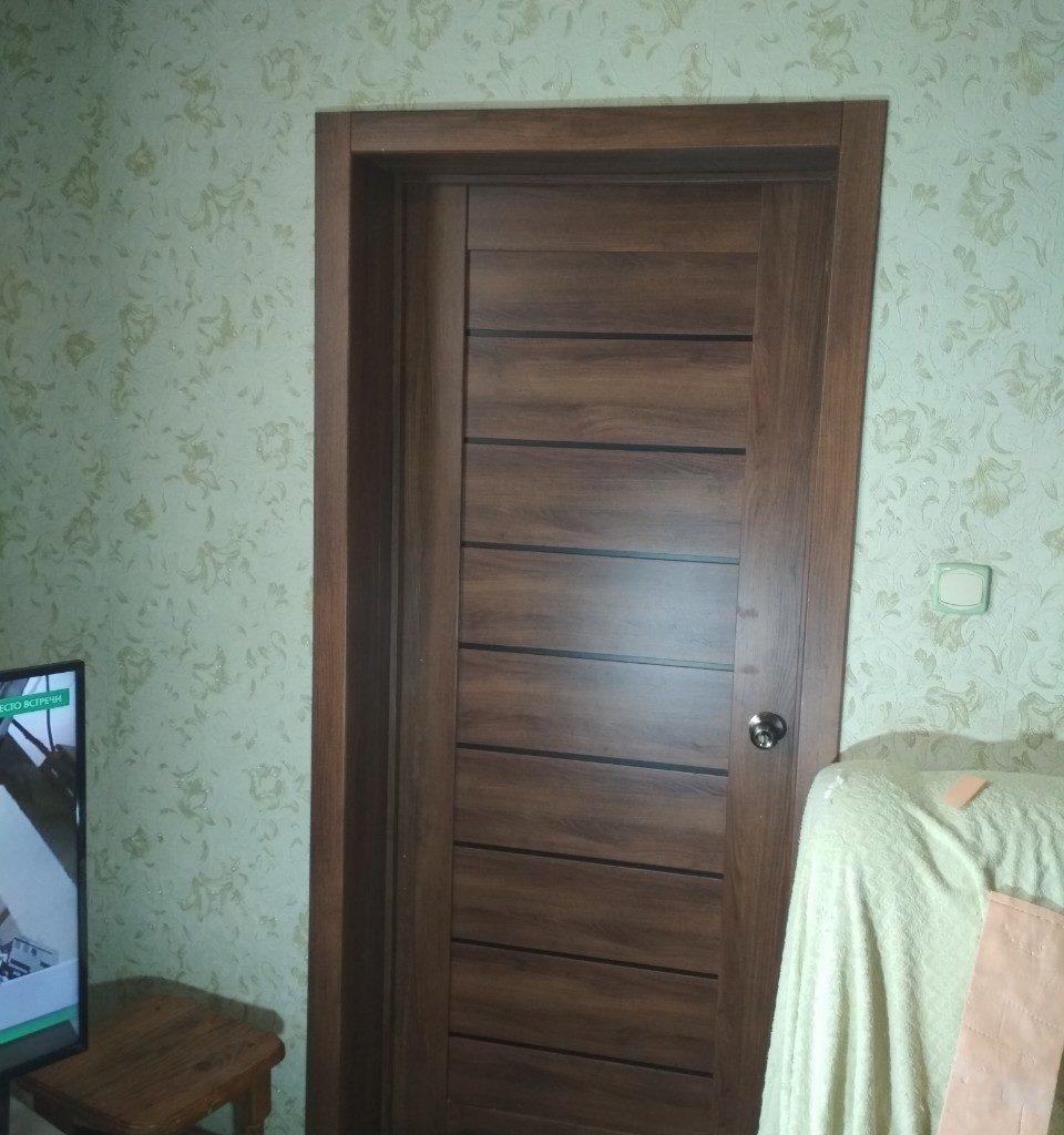 Установка двери  Драйв 1631 3d пленка