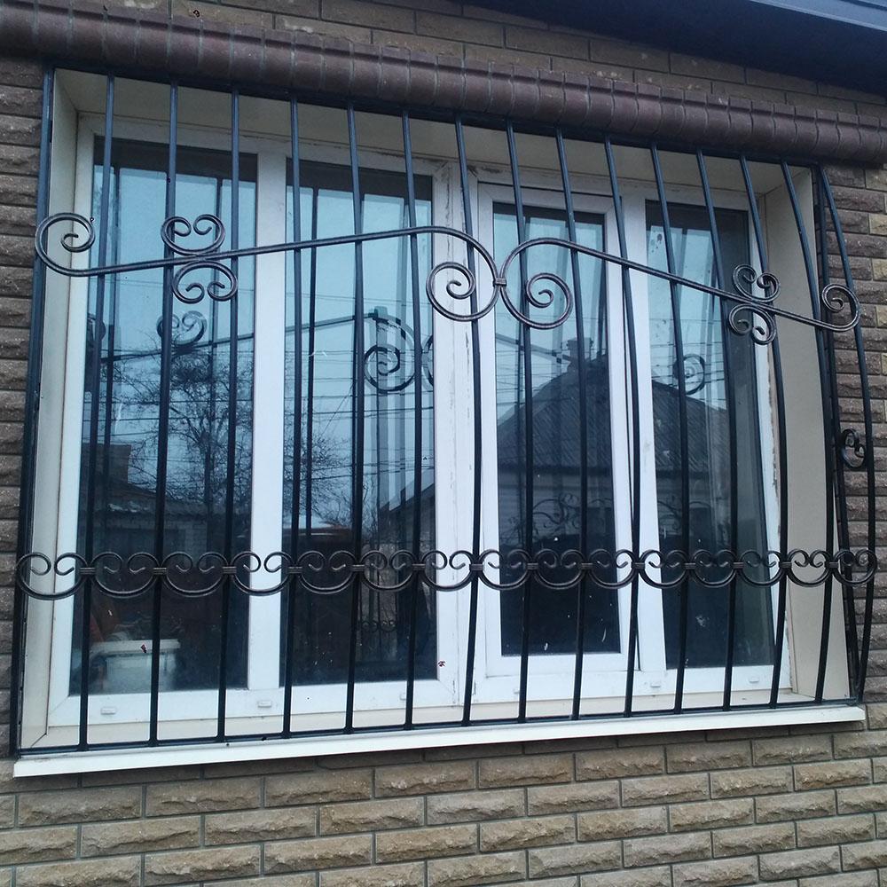 Металлическая решетка на окно тип 4
